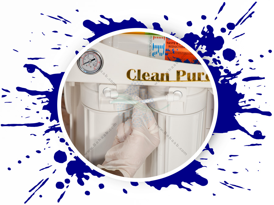 Clean Pure 6 Stage Reverse Osmosis Water Filter System مراحل نصب دستگاه تصفیه آب خانگی