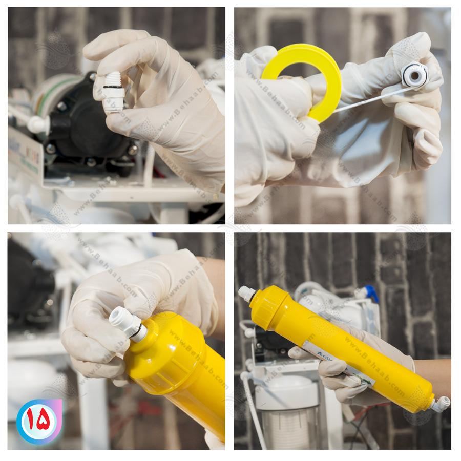 Mineral Water Filter Cartridge روش نصب فیلتر مواد معدنی در دستگاه تصفیه آب خانگی