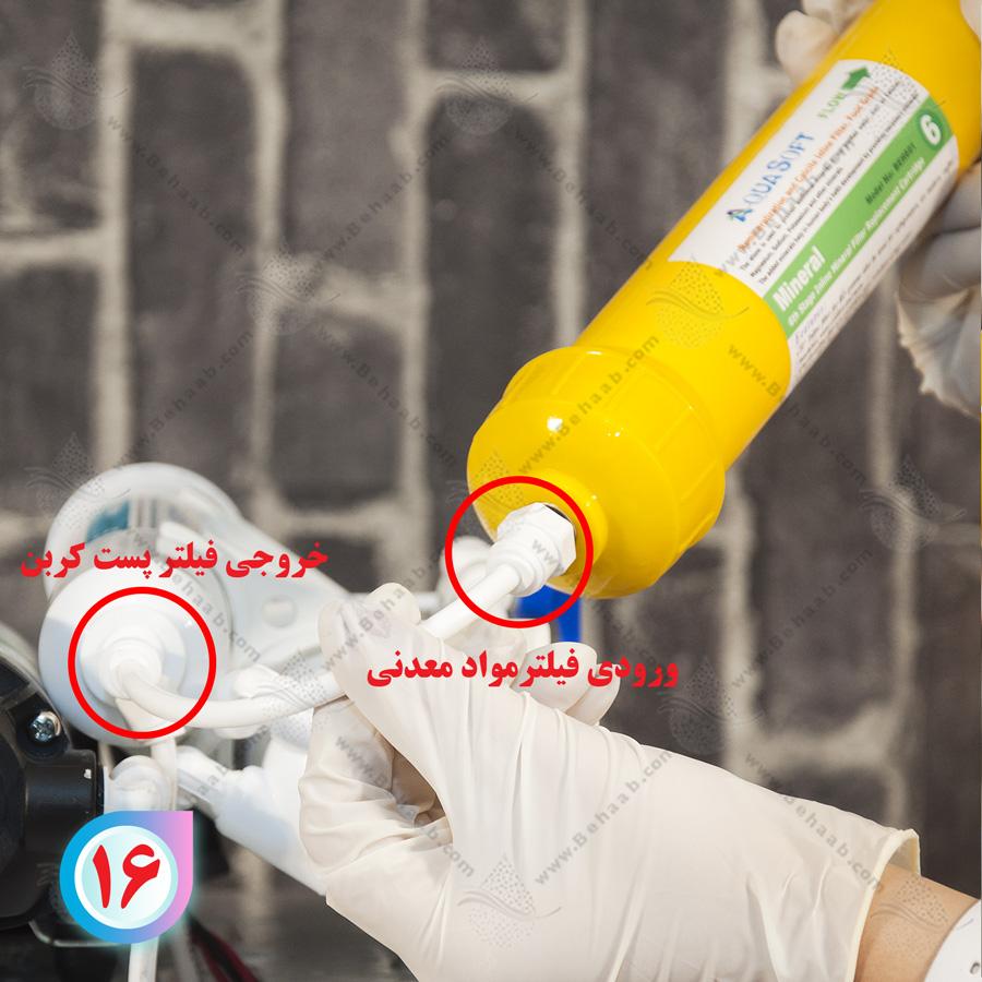 mineral cartridge installation روش تعویض فیلتر مواد معدنی در تصفیه آب خانگی