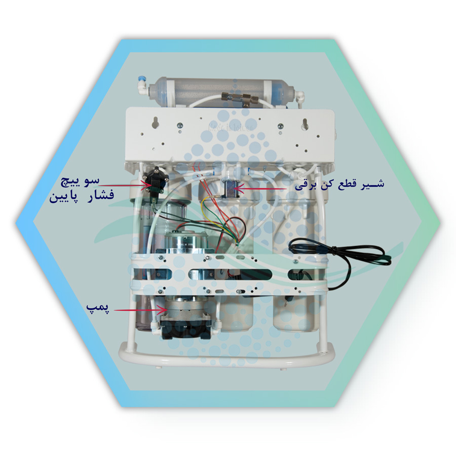 Home Reverse Osmosis System Water Purifier دستگاه تصفیه آب اسمز معکوس