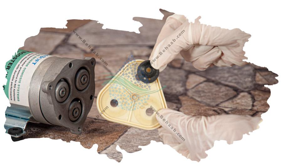 راهنمای تعویض دیافراگم کلگی موتور تصفیه آب