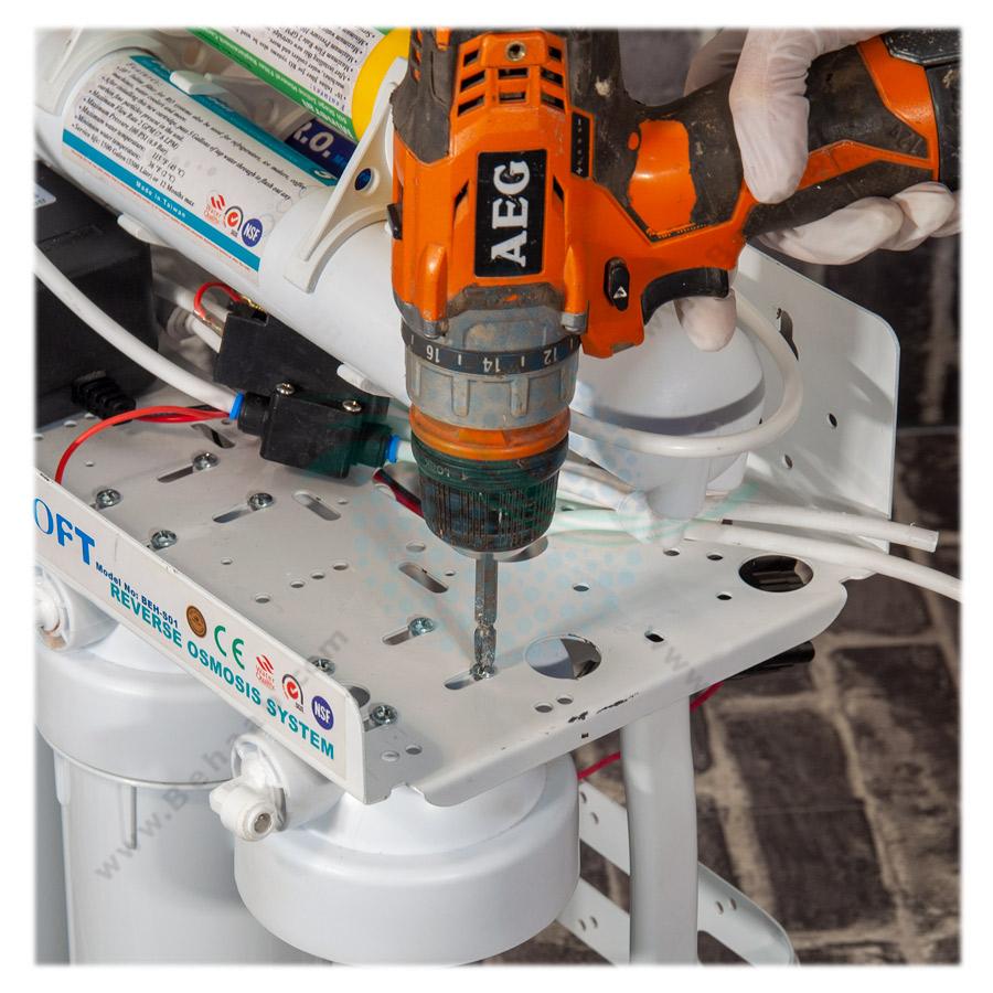 How to change RO Water Filter Housing آموزش تعویض هوزینگ های دستگاه تصفیه آب خانگی