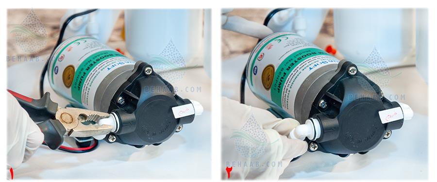 How to change pump in water purifier نحوه تعویض پمپ دستگاه تصفیه آب