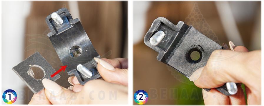 Instructions for drain saddle installation on a reverse osmosis unit آموزش نصب بست فاضلاب در دستگاه تصفیه آب خانگی