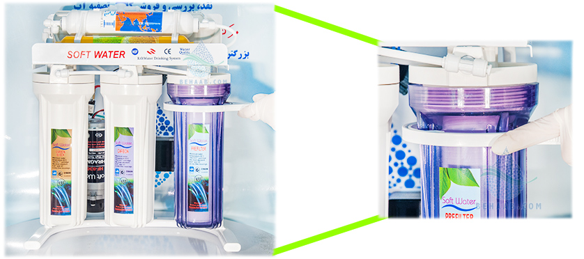 water filter housing  باز کردن محفظه فیلتر تصفیه آب خانگی