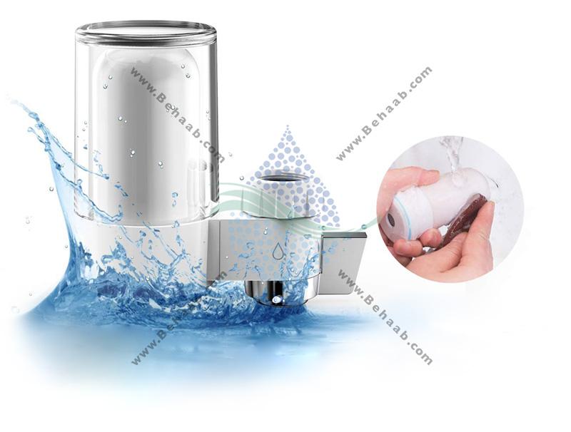 How to replace Faucet Mount Water Filter فیلتر تصفیه کننده آب سرشیری