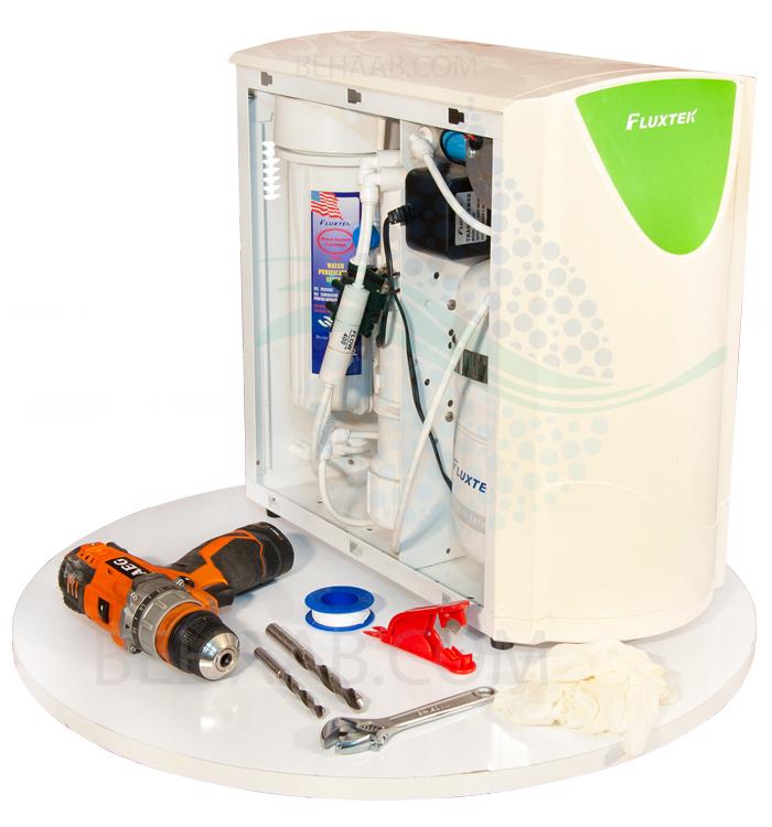 دستگاه تصفیه آب فلوکستک  Installing Fluxtek 5 Stage Reverse Osmosis Water Filter System