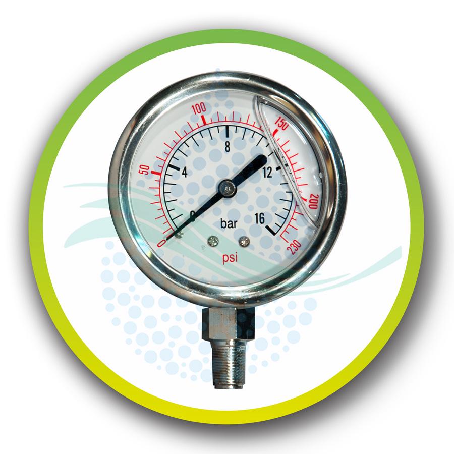 Reverse Osmosis Pressure Gauge  فشارسنج عقربه ای و گیج فشار دستگاه تصفیه آبAnd Accessoriesنقش گیج فشار در دستگاه تصفیه آب