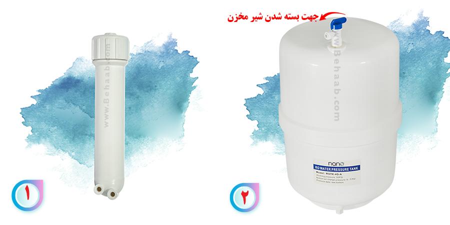 ro membrane housing and water treatment tank هوزینگ ممبران دستگاه تصفیه آب خانگی و مخزن تصفیه آب