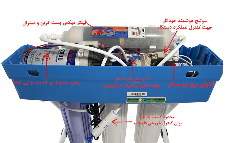 SoftWater 5Stage Water Purification System دستگاه تصفیه آب سافت واتر مدل شاتوت