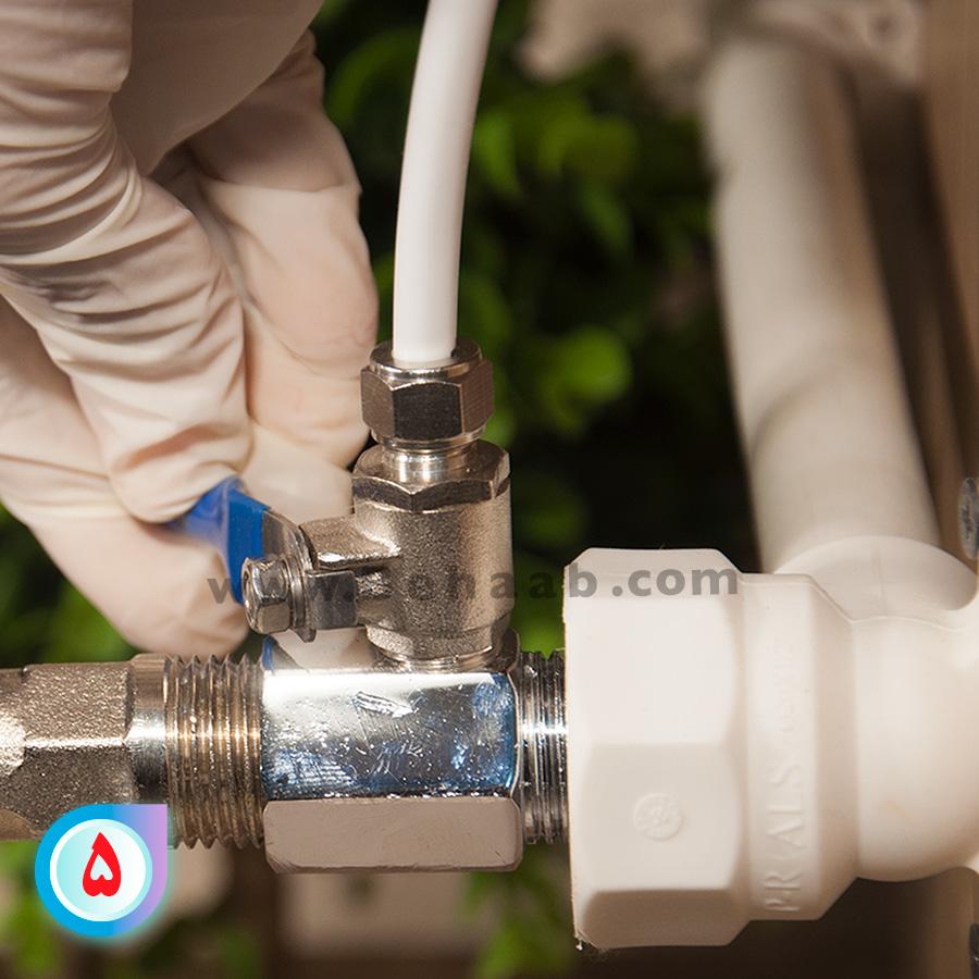RO water filter ball valveشیر ورودی تصفیه آب