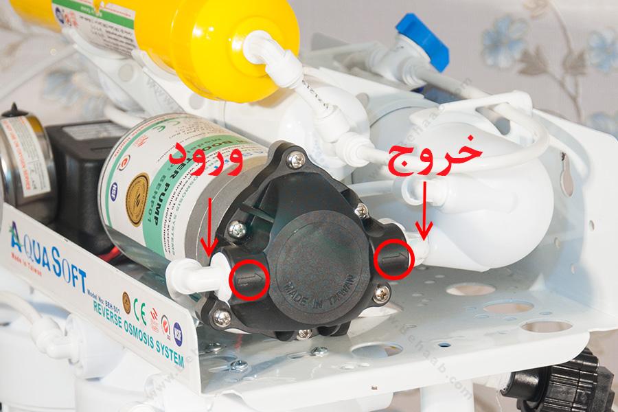 How to Replace Booster Pump Head RO Water purifier هد پمپ یا کلگی پمپ تصفیه آب