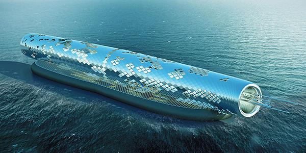 لوله، تاسیسات نمکزدایی با نیروی خورشیدی  The Pipe is floating solar-powered desalination plant