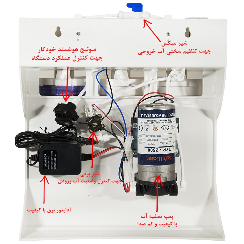 SoftWater 6 Stage Reverse Osmosis RO Water Purifier System دستگاه تصفیه آب سافت واتر معصومی ۶ مرحله