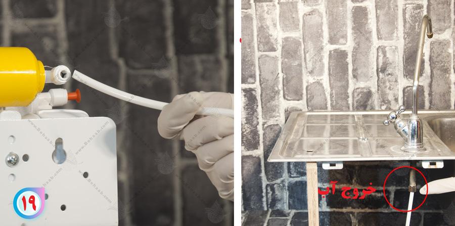 Tubing home شلنگ خانگی در دستگاه اسمز معکوس