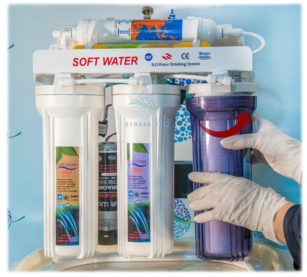 Replacement of polypropylene sedimentary filter  نحوه تعویض فیلتر شماره ۱ تصفیه آب