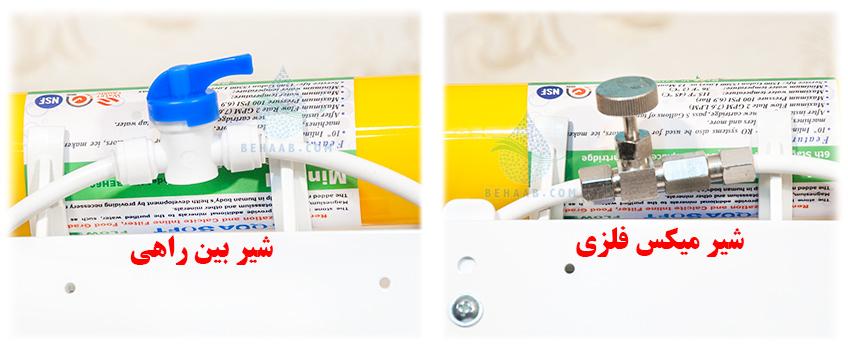 Water purification needle valve   شیر تنظیم تصفیه آب خانگی