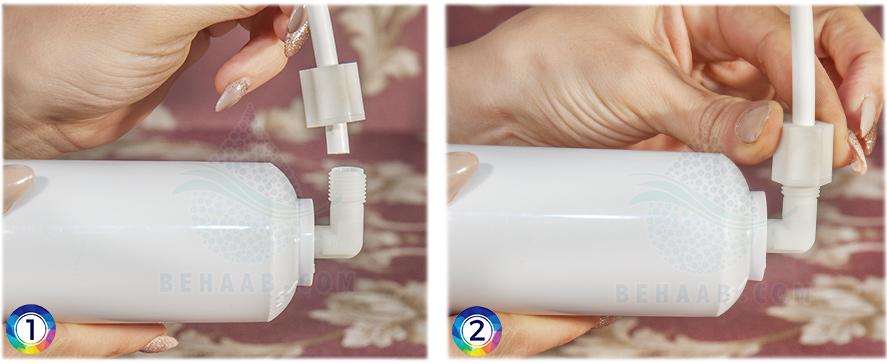 Working with water purifier Connectors نحوه کار با اتصالات دستگاه تصفیه آب