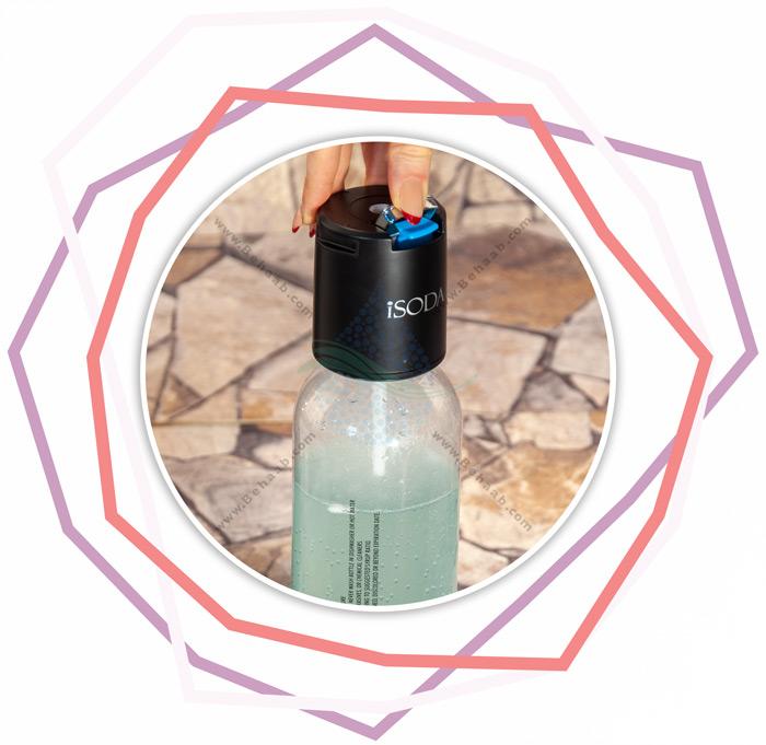 iSODA Sparkling Water and Soda Maker Carbonating Beverage Machineراهنمای گاز دار کردن نوشیدنی موهیتو با دستگاه آی سوداه