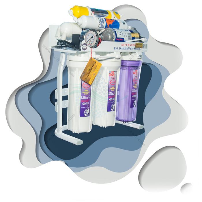 دستگاه تصفیه آب اسمز معکوس _ دستگاه تصفیه آب شش مرحله ای - دستگاه تصفیه آب سافت واتر